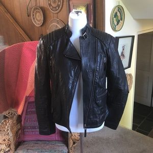 Sleek, Edgy, Sexy, Bernardo Leather Moto Jacket